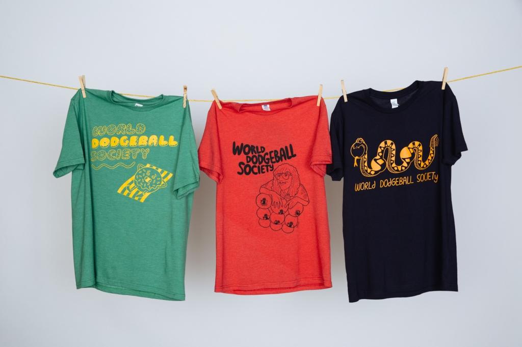 World Dodgeball Society shirt designs by Renee Lusano